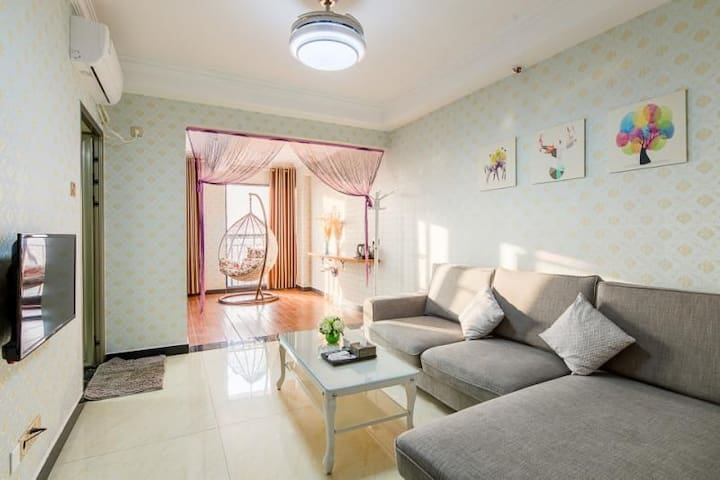 长沙机场格林之家 浪漫双床套房(包接送机)