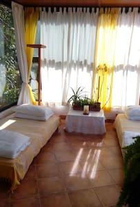 Chambre verrière dans la verdure - Ghbale - Bed & Breakfast
