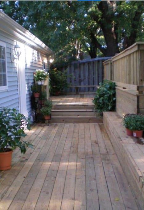 Walkway to back door