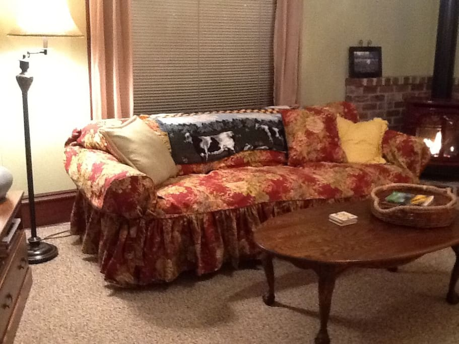 Two 7 ft. sofas make this room perfect for games, movies, puzzles, conversations...