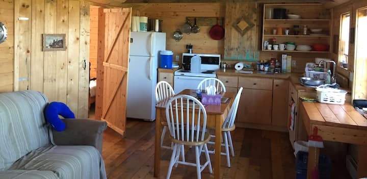 Secluded cabin, ocean view, 300 acres in Afton