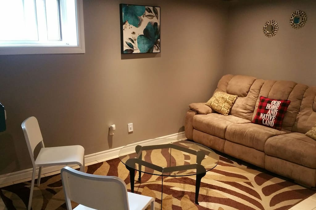 Living room with recliner sofa