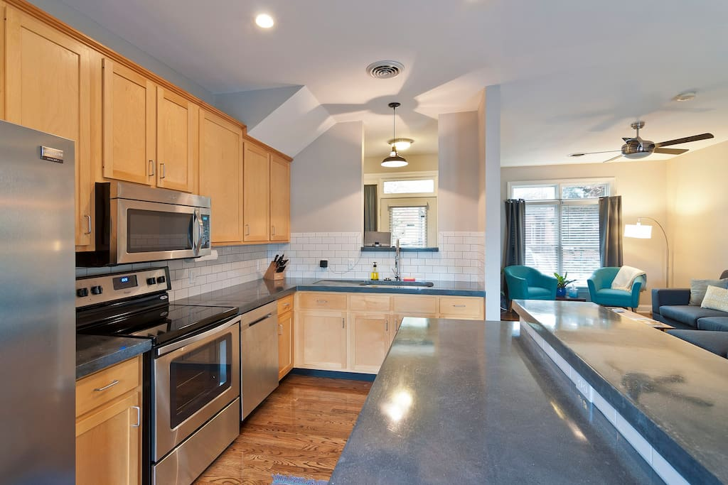 Modern and renovated kitchen