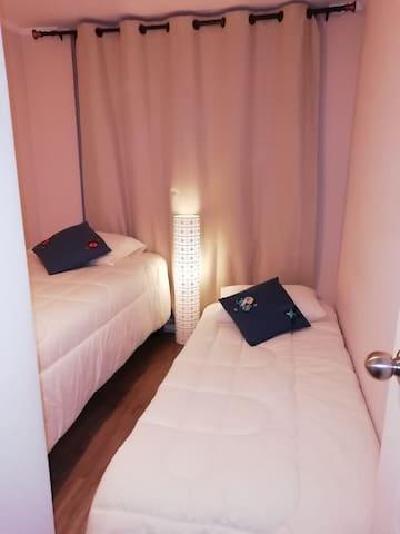 Dormitorio independiente centro de Santiago