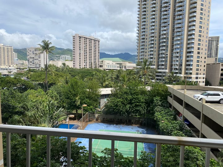 Waikiki studio with balcony block from the beach