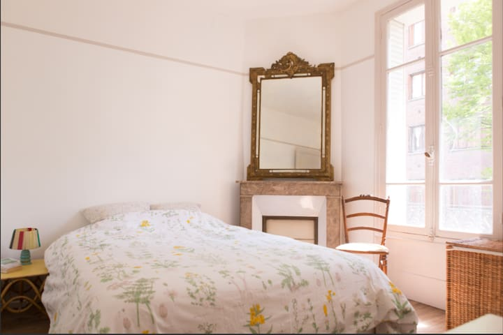 Room in a beautiful old house with garden