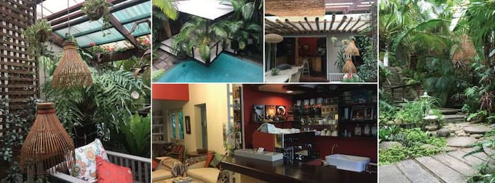 Two swimming pools, cafe, beautiful garden
