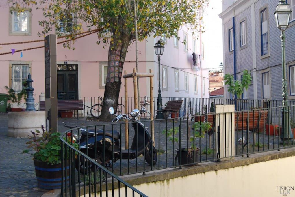 Place du Largo dos Trigueiros (zone piétonne),