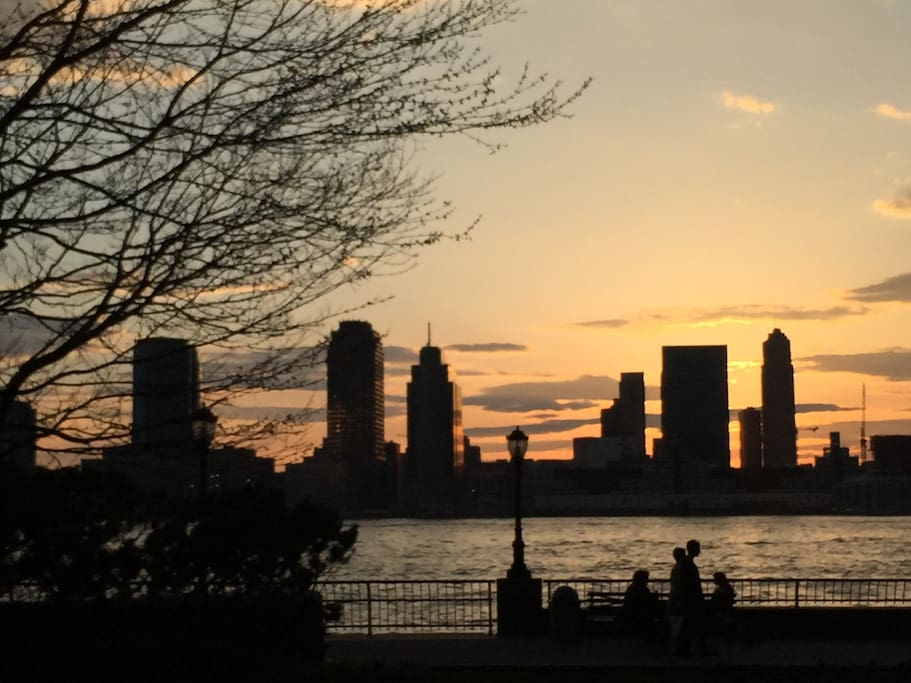 A short walk from the East River and Hudson River - and all the ferries (to Statue of  Liberty, Ellis Island, Staten Island, Brooklyn, Red Hook) and the PATH to New Jersey