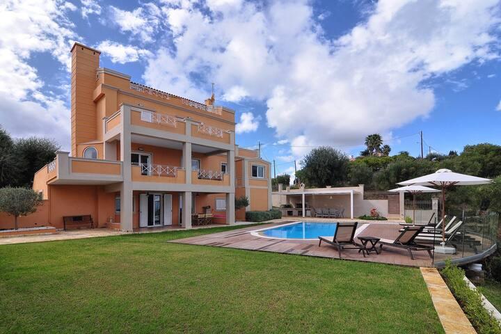 Bird's eye view villa in Corfu