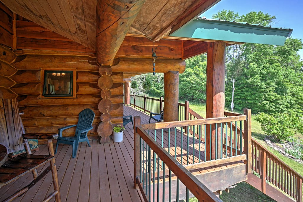 Look forward to relaxing on the large front porch with picturesque views.