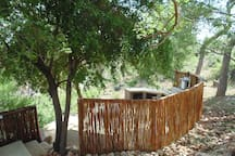 Screened off private Boma overlooking Olifants River