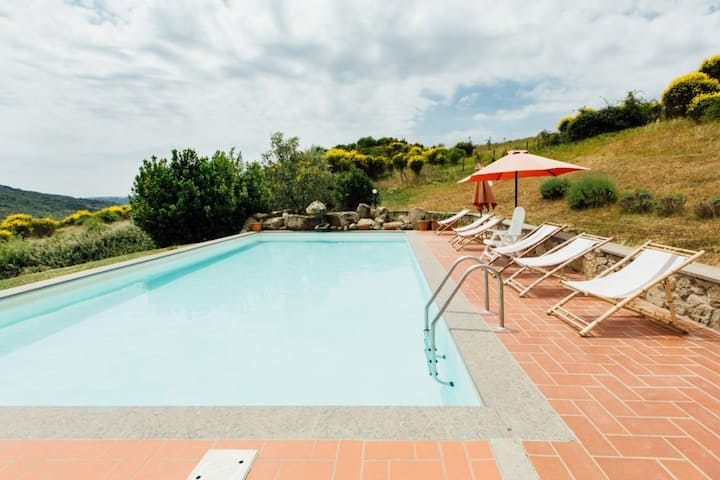 Villa with 6 bedrooms in Santa Fiora, with private pool and furnished terrace - 40 km from the beach