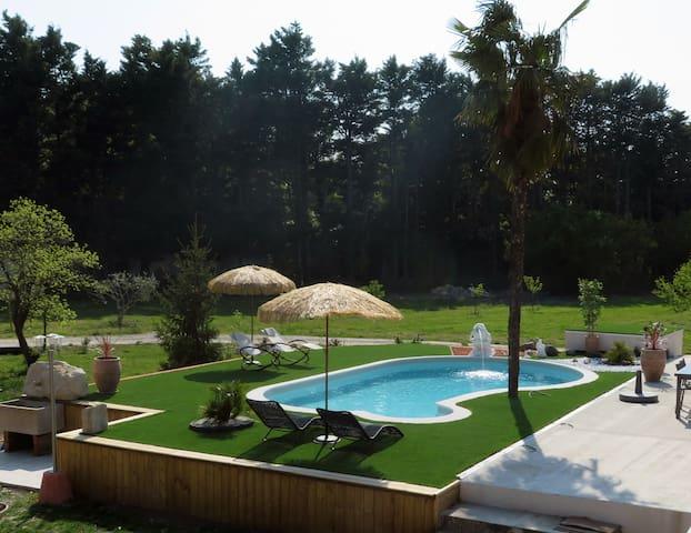 Studio indépendant avec piscine, l'isle sur sorgue