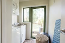 Laundry, washing machine,drier, iron and ironing board