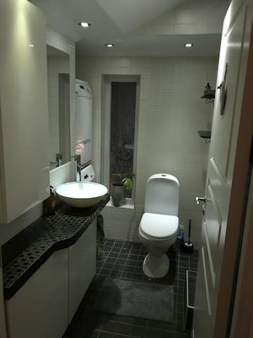 Dusch, WC, tvättmaskin&torktumlare