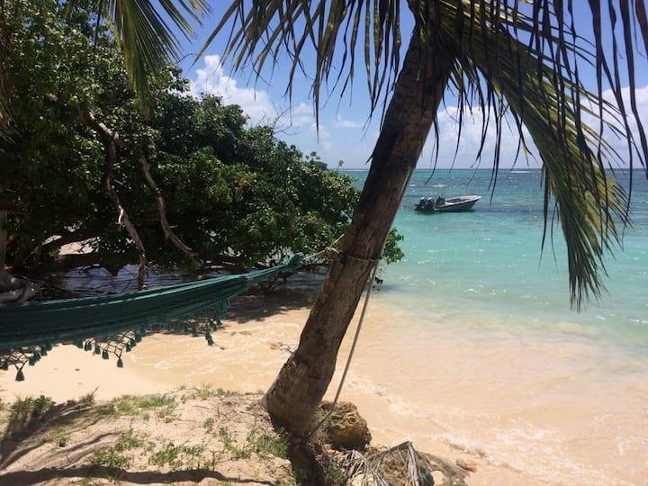EFFET LAGON kaz créole sur la plage