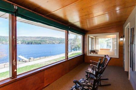 Year Round Adirondack Lake Home with Beach