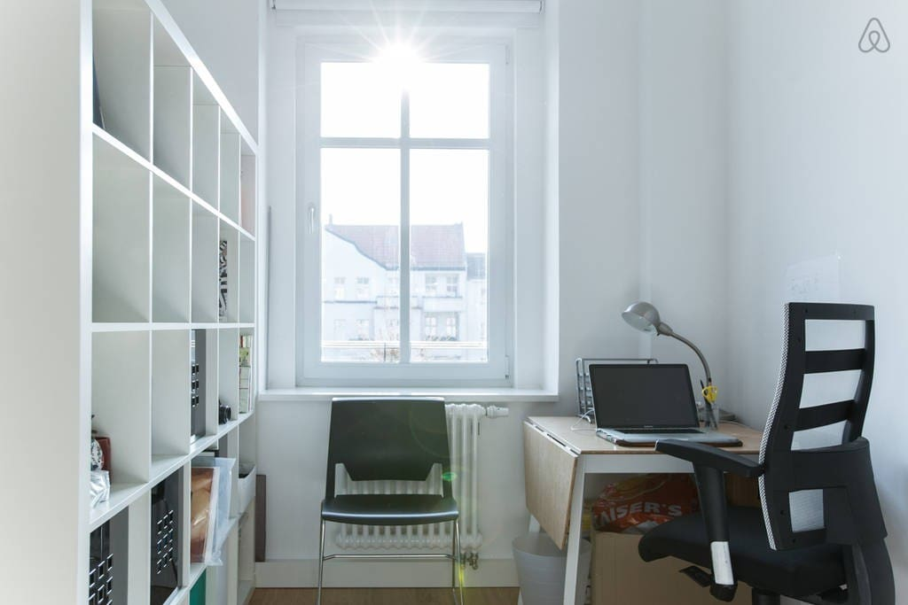Need some office space while in Berlin? You get your own desk, plus you can use the scanner / printer in the apartment when needed.