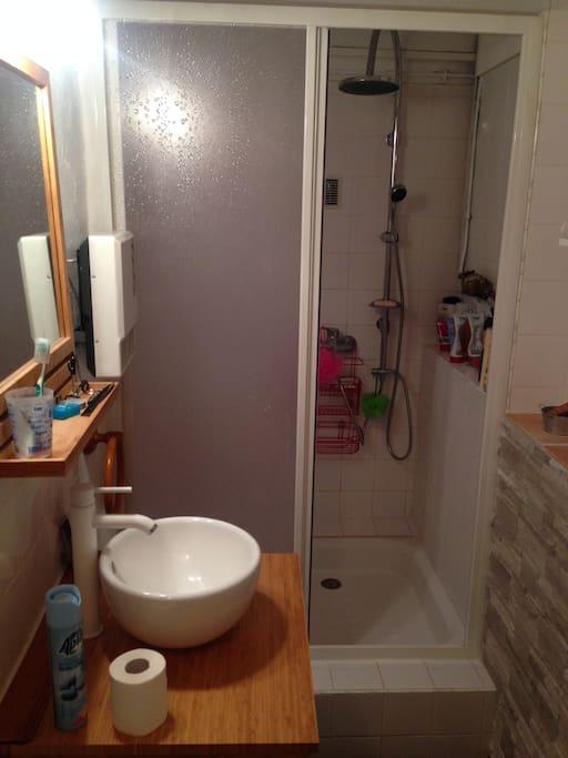 Salle de bain au rez de chaussée.