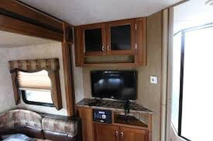 Vacation anytime anywhere in this travel trailer!