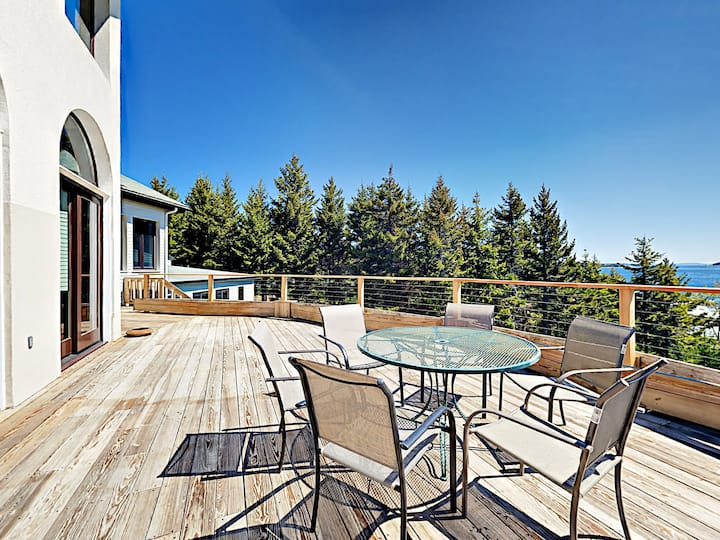 Private Oceanfront Gem on 10 Acres with Fireplaces