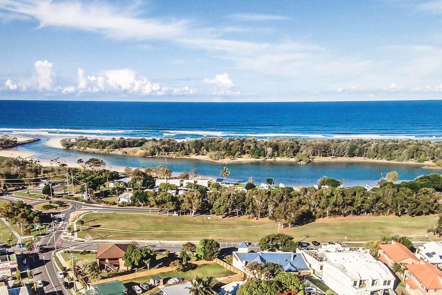 Pottsville Beach and village has a great beach and lake ,IGA for your shopping and great restaurants and cafes