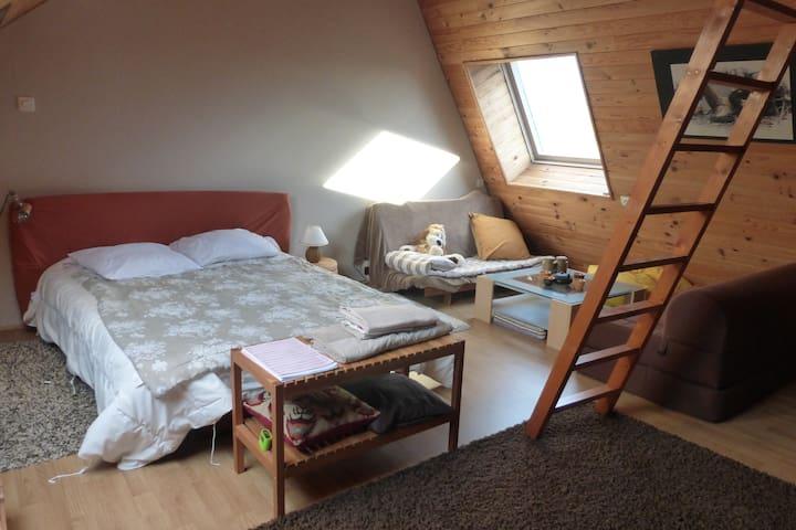 Grande chambre à la campagne - Domloup - Casa