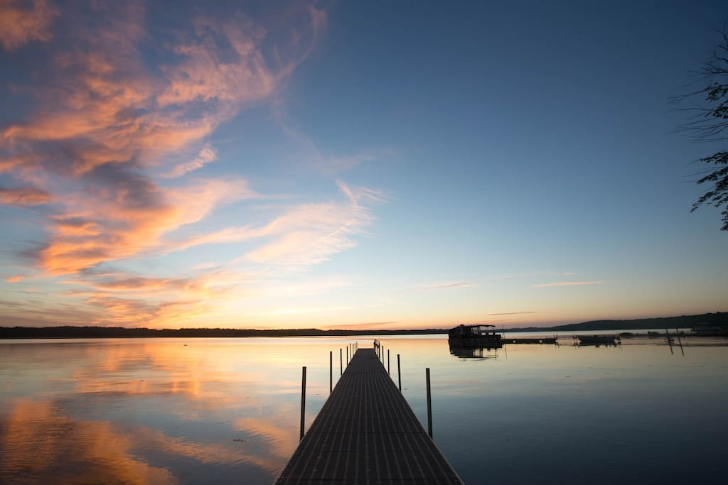 Amazing sunset over our dock!