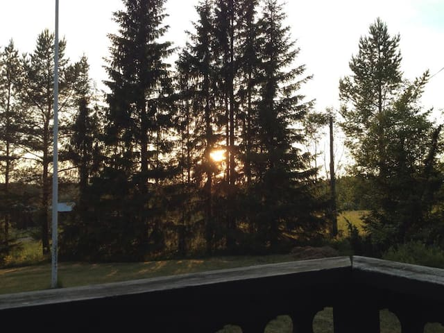 Sunset in july, seen from the porch.