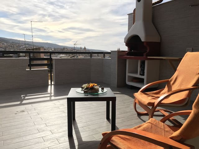 ★ Panoramic rooftop with a wonderful view - Comiso - Flat