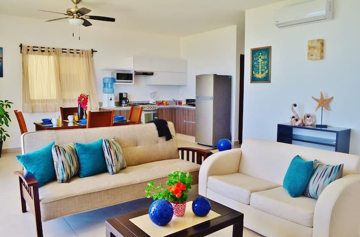Marvelous Beach Front Apartment on Puerto Morelos