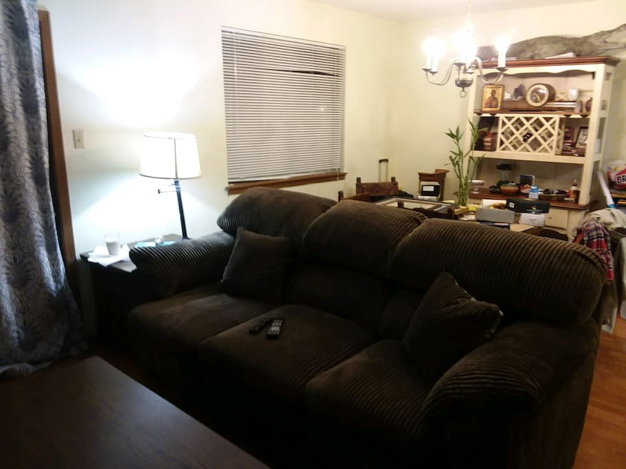Living room couch to view TV