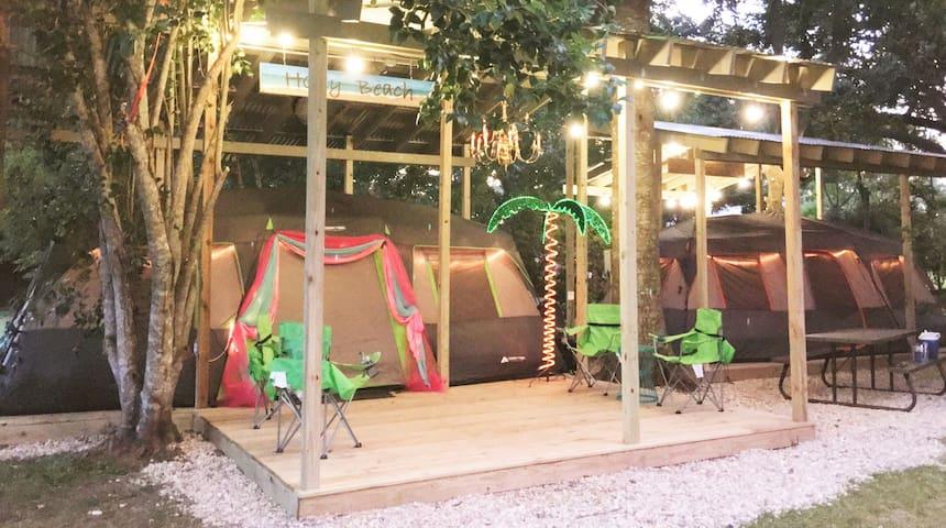 Holly Beach Glamping Tent - Louisiana Cajun Mansion