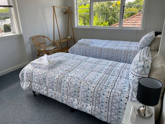 Bright room (W) close to town center only 800 m.