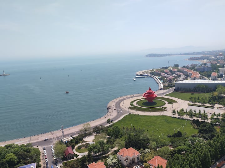 4 rooms apt with sea view at heart of qingdao
