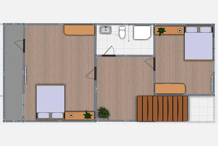 2D plan: 2-nd floor
