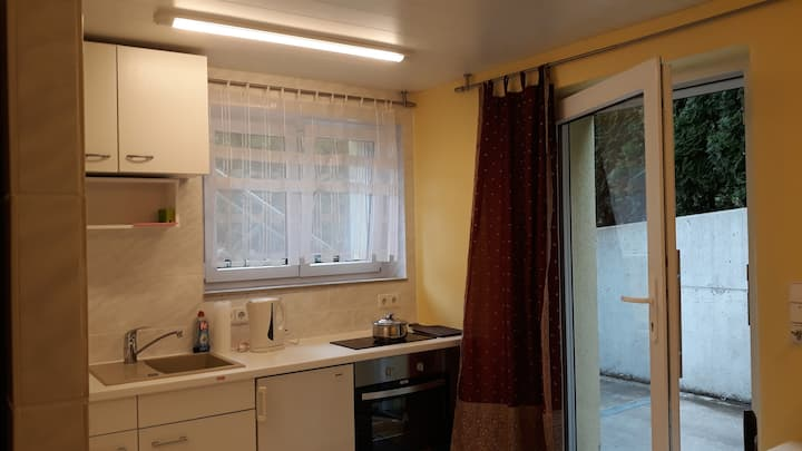 Furnished flat 14qm, Killesberg, own entrance