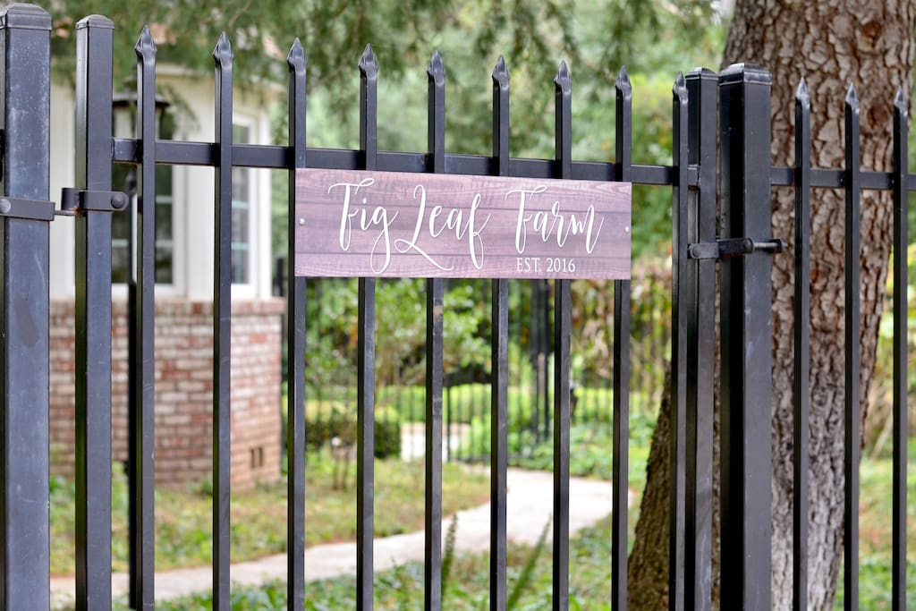 Our Farm sign on the gate lets you know you are on the right path!