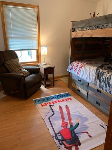 Ski Room-bunkbeds & trundle