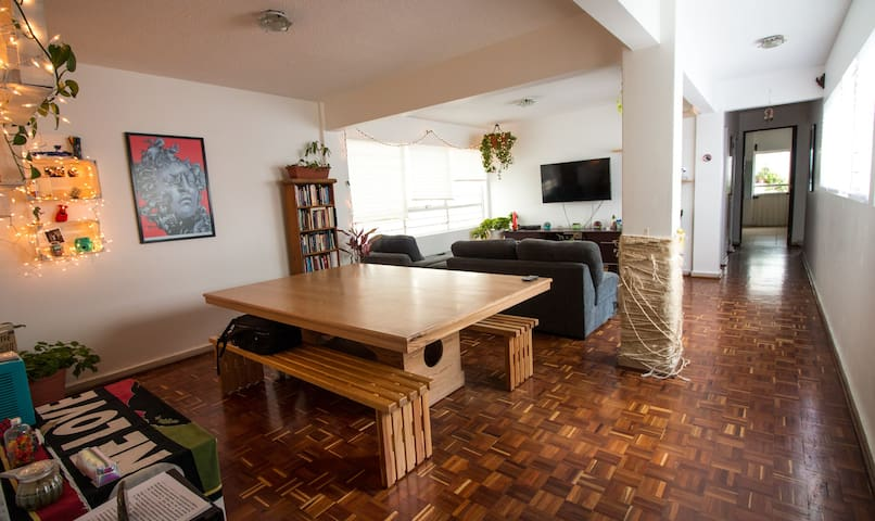 Beautiful and spacious room with terrace! - Ciudad de México - Appartement