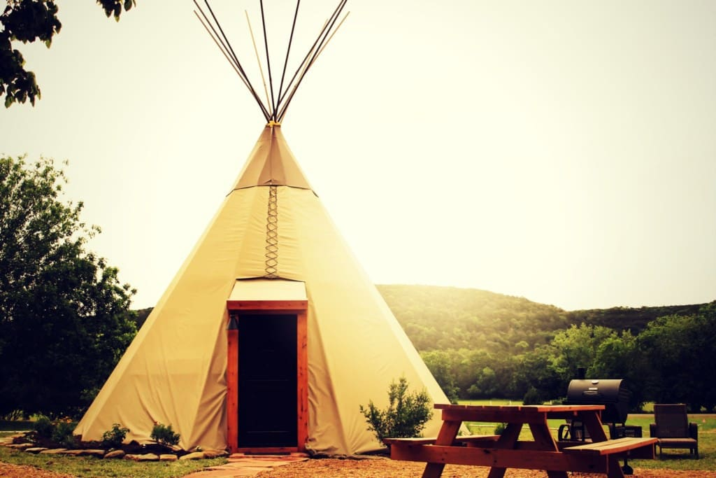 We have 8 Tipis in a horseshoe configuration on the property.
