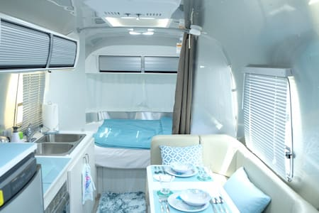 Brand New Airstream Comfy Sanitary Great Location
