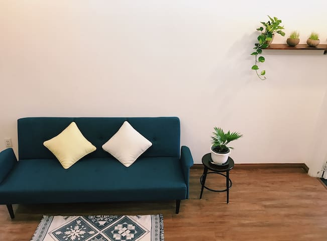 A sofa-bed in sitting room is available as a extra bed