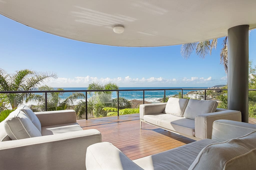 Lower deck with ample seating and ocean views