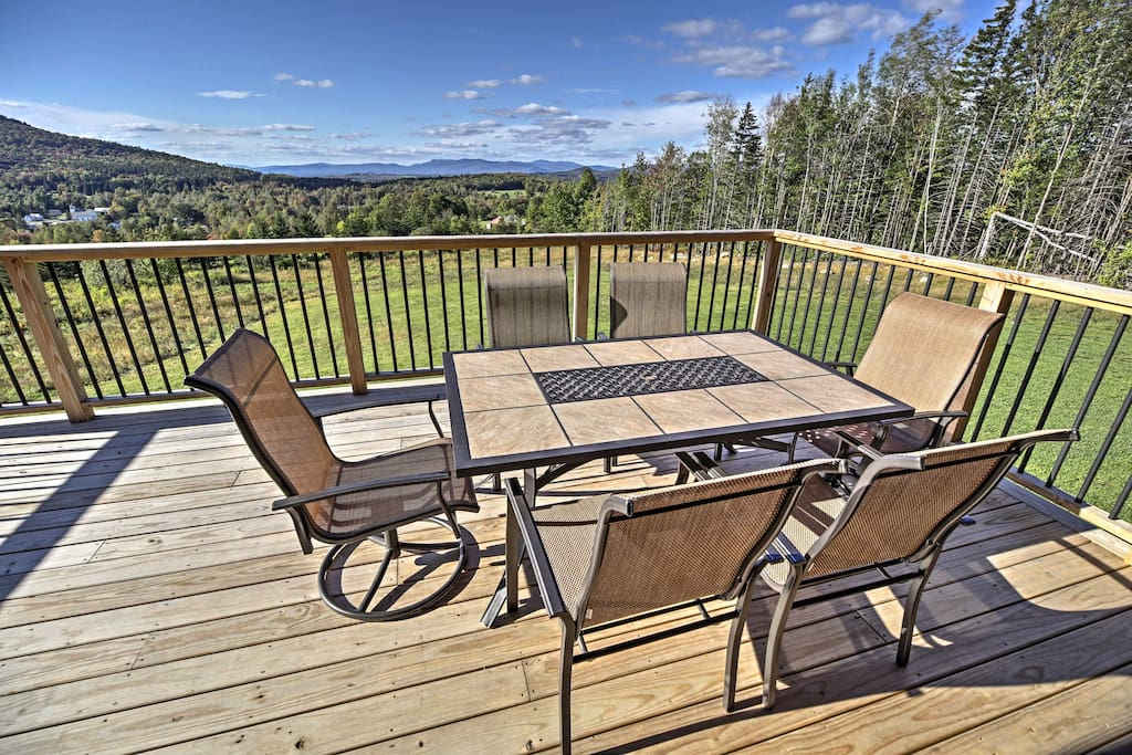 Enjoy stunning mountain, forest and sunset views from your private deck!