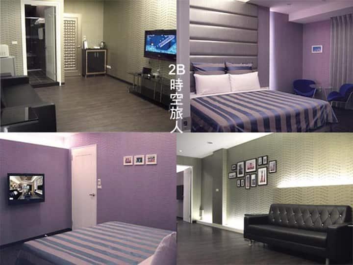 羅東浮華四季B&B豪華雙人房(可選2張單人床或1張雙人床)