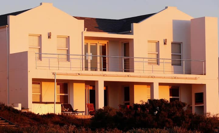We are situated on the beach in St Helena Bay.
