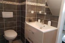grande vasque avec wc suspendu