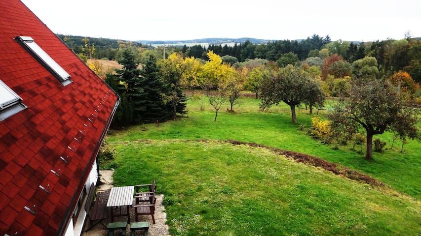 Dům v Červené Řečici, přehrada Trnávka